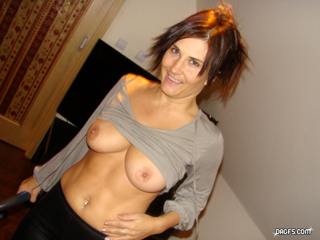 busty valentina loves to show her titties, even while doing housework.
